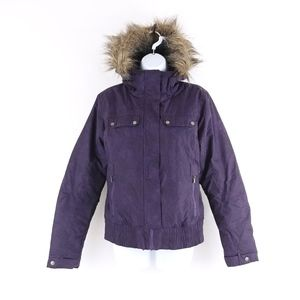 Columbia Insulated Faux Fur Hooded Bomber Jacket